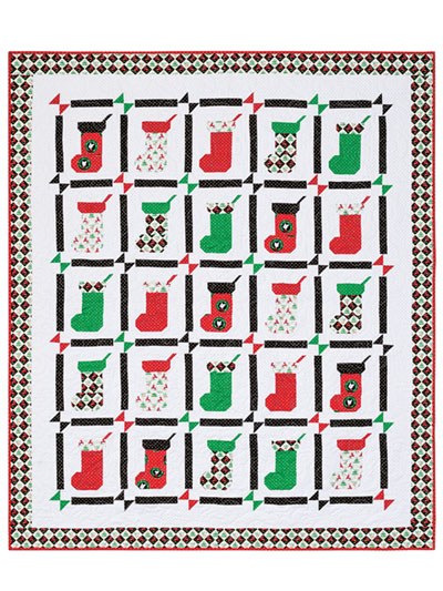 Stockings Are Hung Quilt Pattern