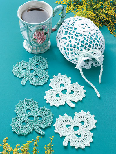 Irish Coasters & Lace Bag Crochet Pattern