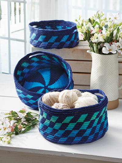 Nesting Tapestry Baskets Crochet Pattern