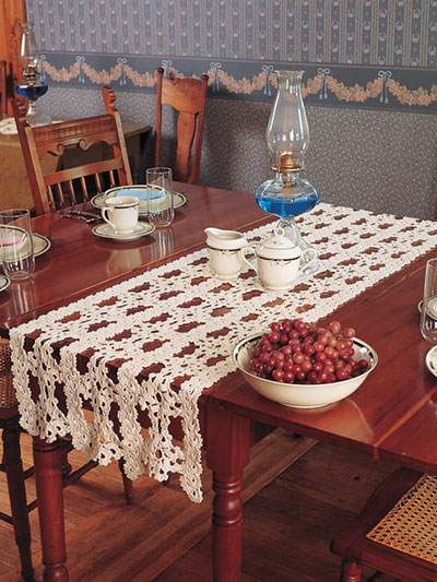 Queen Anne Table Runner Crochet Pattern