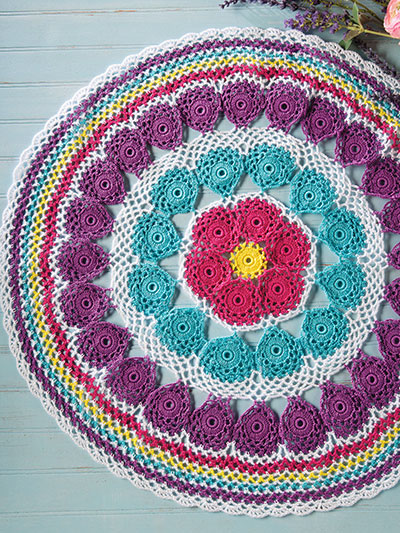 Color Wheel Table Mat Crochet Pattern