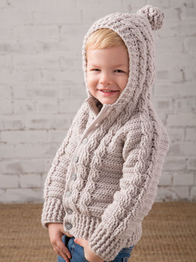 Hooded Cable Sweater Crochet Pattern