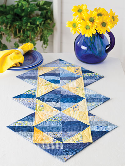 Triangle Illusions Paper Pieced Quilt Pattern