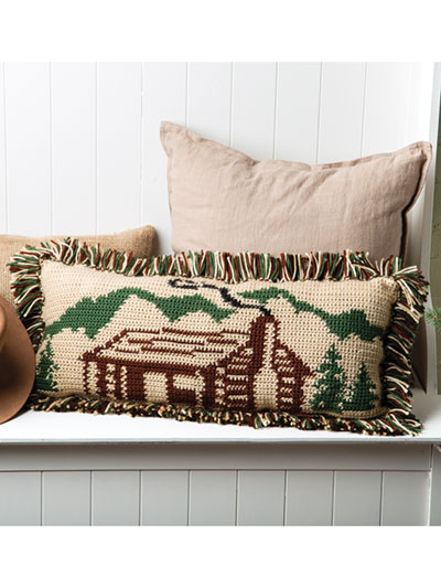 Rustic Cabin Pillow Crochet Pattern