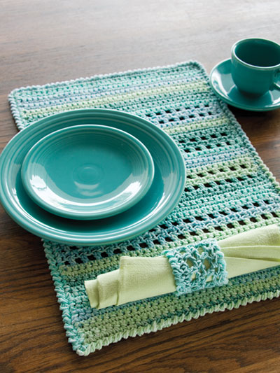 Pacific Place Setting Crochet Pattern