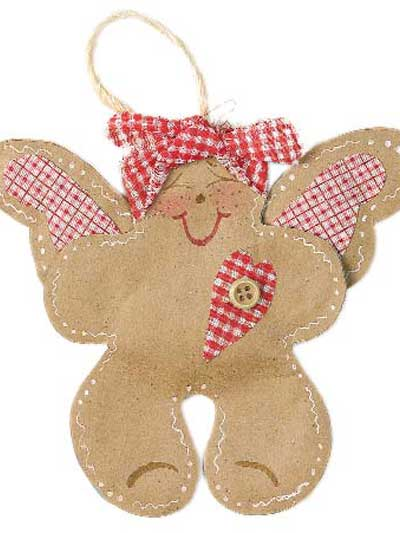 Gingerbread Angel Ornament