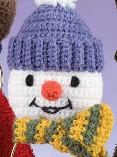 Crochet holiday amp seasonal christmas patterns snowman towel holder