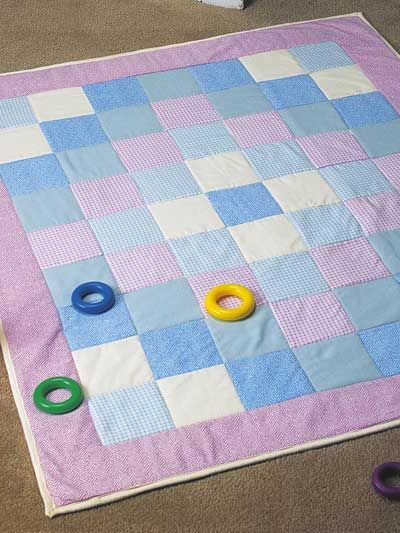 Seeing Squares Flannel Baby Quilt