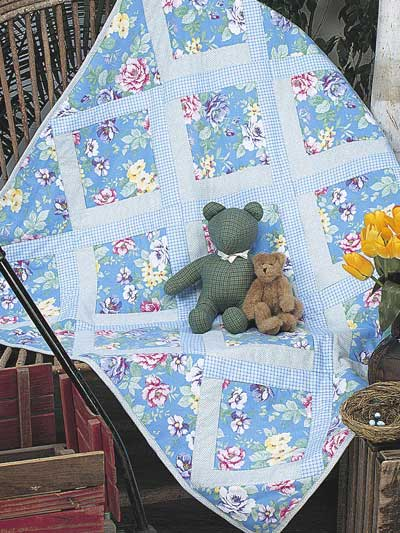 Lazy Logs Flannel Baby Quilt