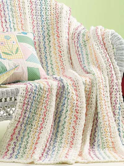 Summer Stripes Afghan