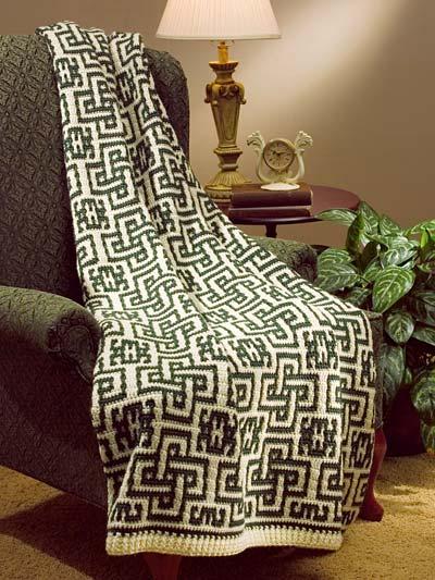 Mosaic Crochet Mosaic Celtic Afghan