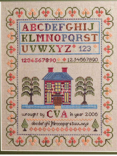 Antique House Sampler