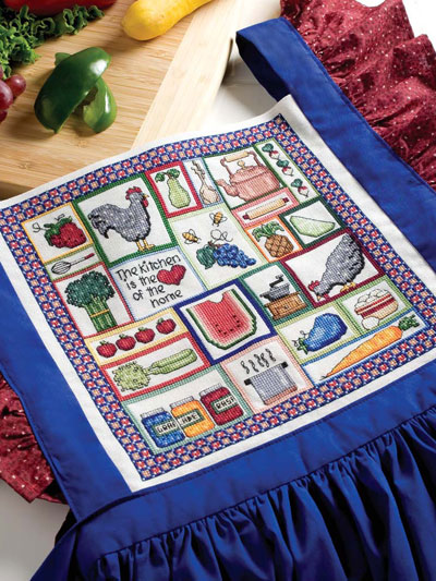 Kitchen Sampler Apron