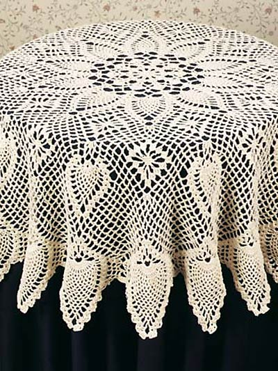 Round Pineapple Tablecloth