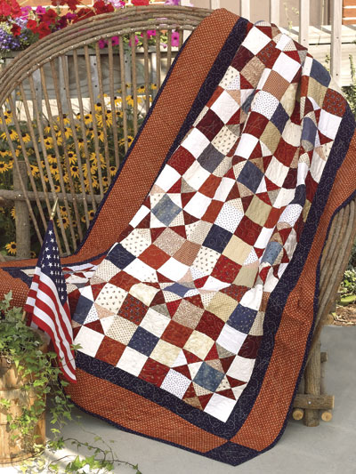 Star-Spangled Scrap Quilt