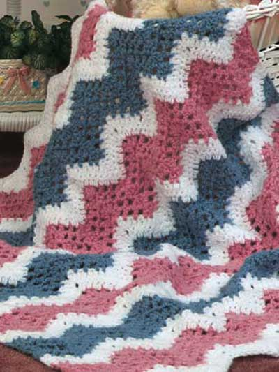 Baby's Quick Ripple afghan