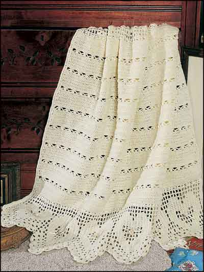 Victorian Hearts Baby Coverlet