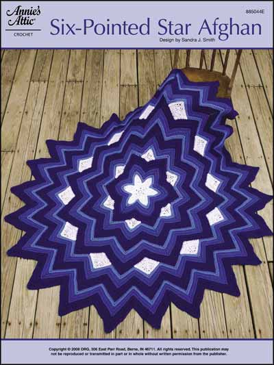 Six-Pointed Star Afghan
