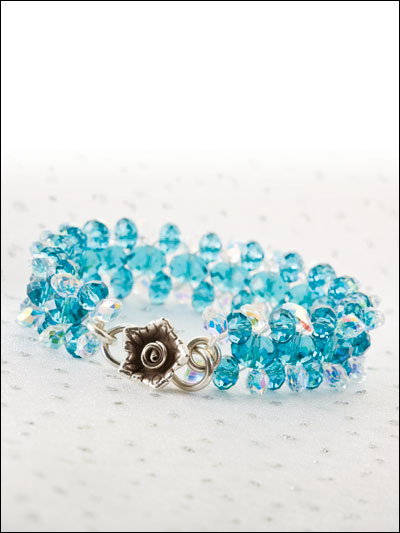 Something Sparkling, Something Blue Bracelet