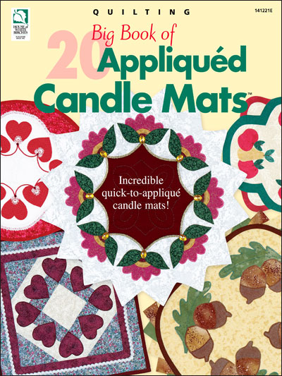 Big Book of 20 Appliqued Candle Mats