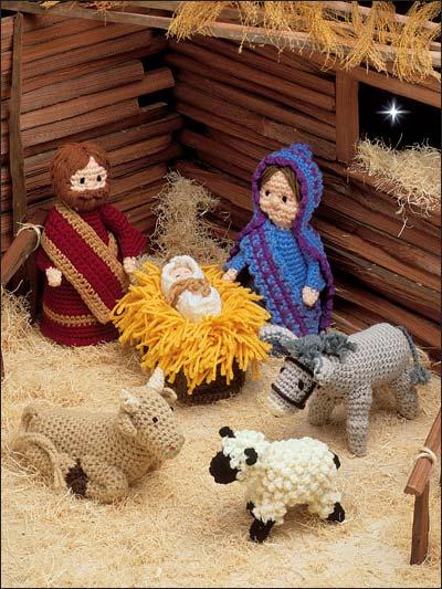 Crochet creche - Belenes de navidad manualidades ...
