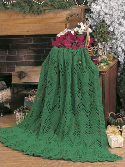 Christmas Afghan Knitting Patterns : Knitting - Afghans & Throws - The Greens of Christmas Afghan