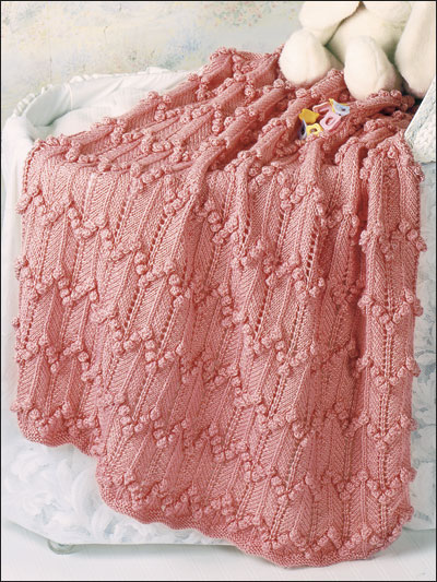 Knitting Pattern For Popcorn Baby Blanket : Knitting - Charitable Giving Patterns - Babys Popcorn Ripple Afghan