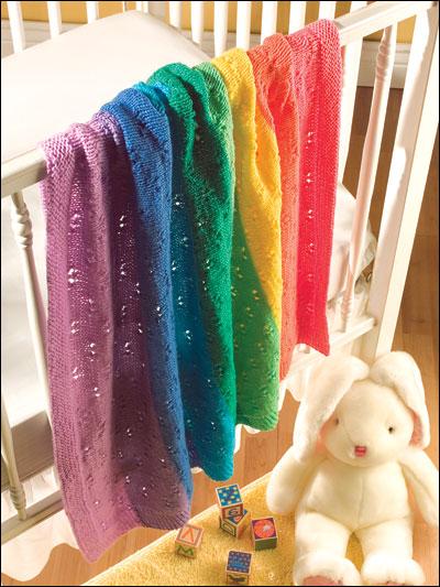 Knitting Pattern Rainbow Baby Blanket : Rainbow Baby Blanket