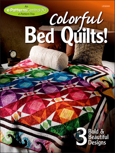 Colorful bed quilts for Bed quilting designs