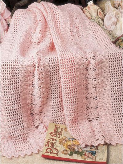 home crochet afghan throw patterns shells lattice technique crochet ...
