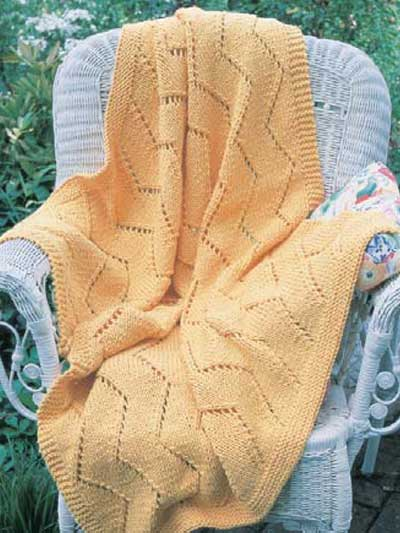 Zig-Zag Eyelet Throw