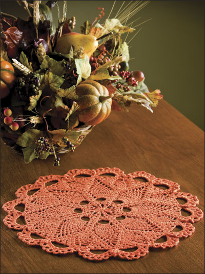 Fall Pineapples Doily