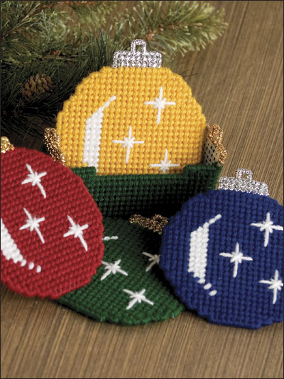 Christmas Ornament Coaster Set