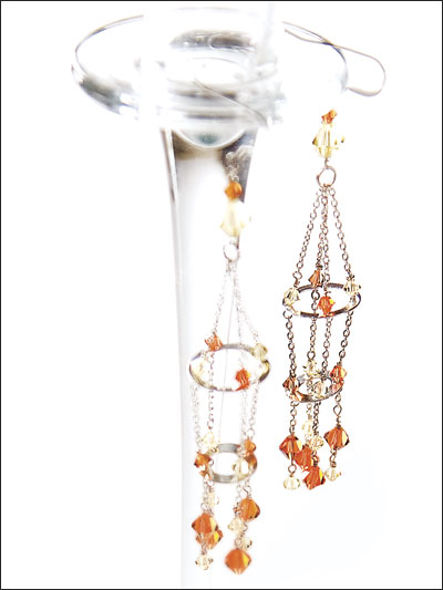 Crystal Acrobatics Earrings