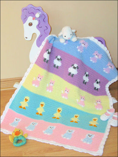 Baby Animals Blanket Crochet Pattern Pack