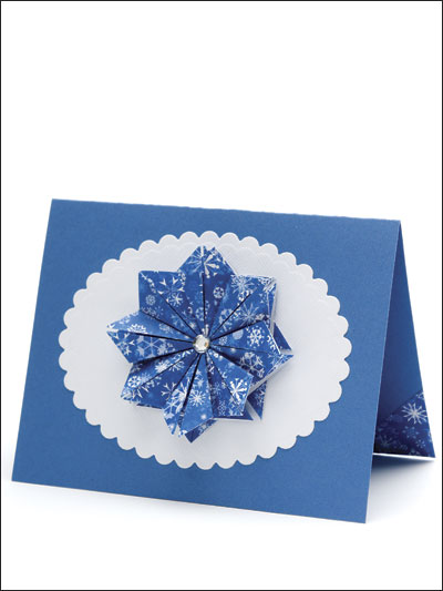 Folded Flakes Card