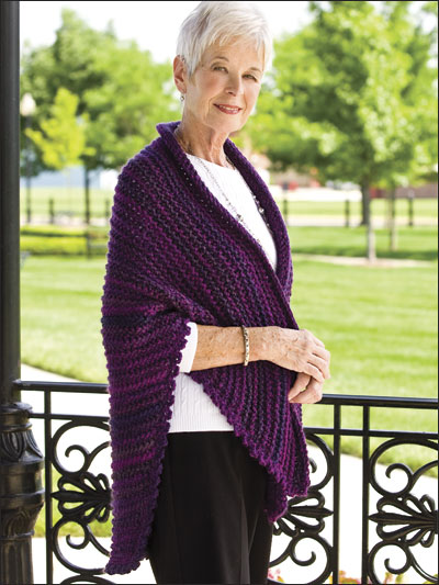 Purple Majesty Shawl for Alzheimer's