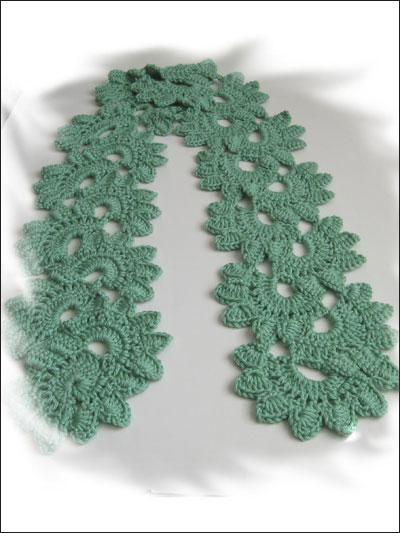 Crochet - Shell Flower Scarf