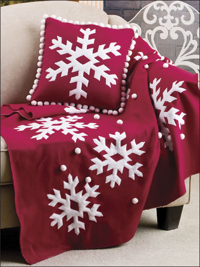 Fleece Snowflake Set
