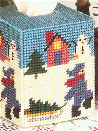 Christmas Eve Tissue Box Cover