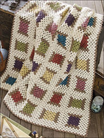 Crochet Afghans Amp Throws Granny Square Amp Scrap