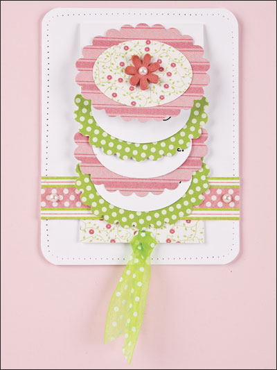 Scalloped Oval Waterfall Card