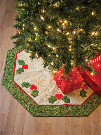 Quilting Quick Amp Easy Patterns Holly Tree Skirt