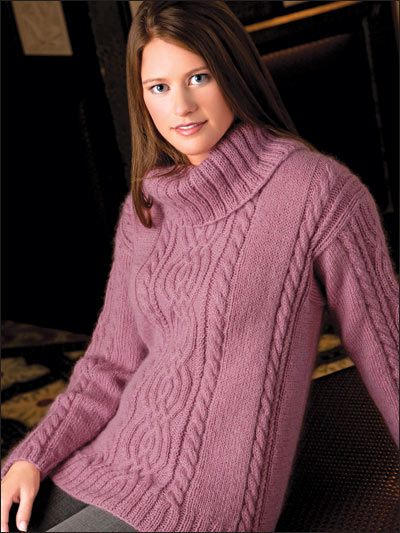 Cabled Cowl Neck