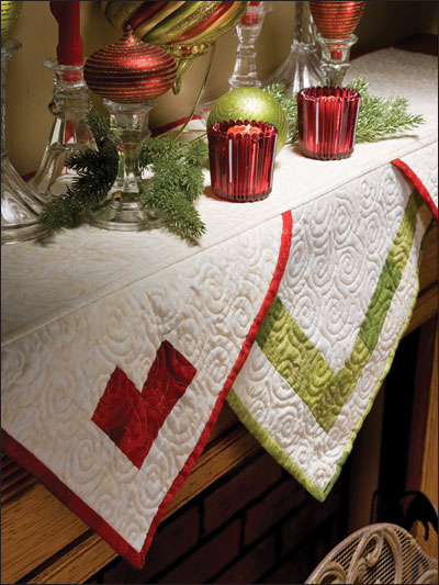 christmas lace mantle scarf