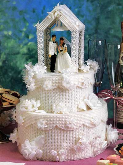Wedding Cake Plastic Canvas Patterns