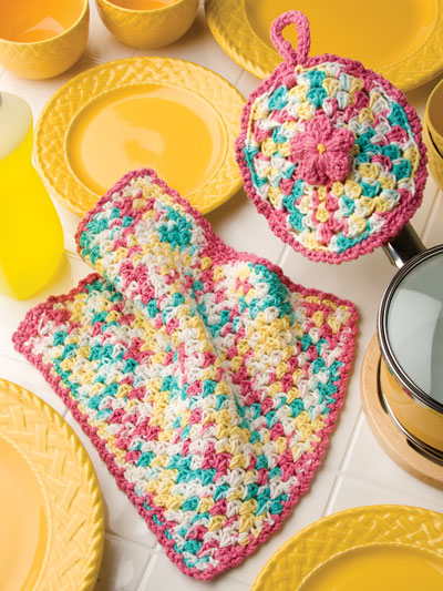 Flower Pot Holder & Dishcloth