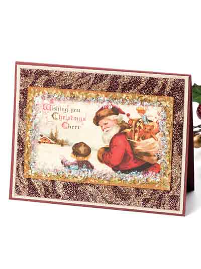 Christmas Glitter Card & Tag