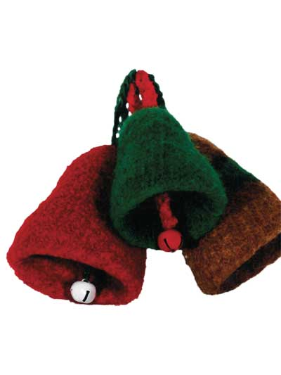 Felted Christmas Bells