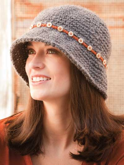 Button-Down Cloche